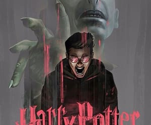 art, voldemort, and harry image