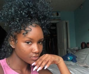 beautiful, black girl, and curly image