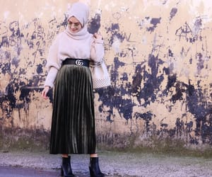 girl, hijab fashion, and hijab image