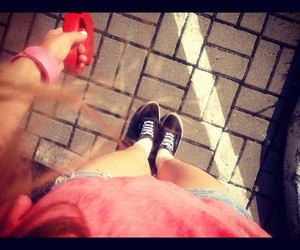 girl, legs, and vans image