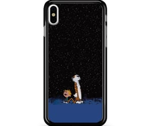 phone cases, iphone x case, and calvin and hobbes space image