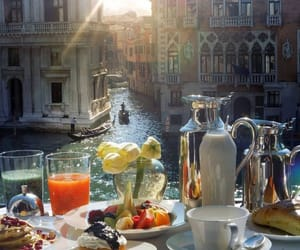food, italy, and venice image