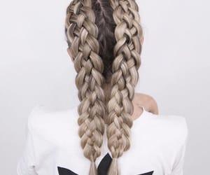 braid, fashion, and girl image