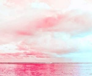 aesthetic, clouds, and pink sunset image