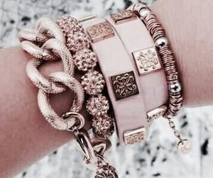 bracelet, jewelry, and rose gold image