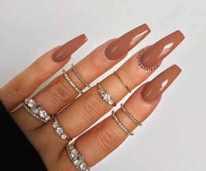 nails, brown, and inspiration image