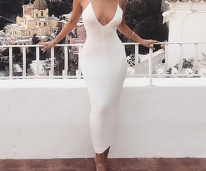 fashion, style, and white dress image