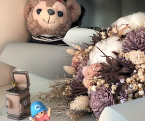bear, flowers, and toy image