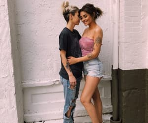 lesbian, femme, and happy image