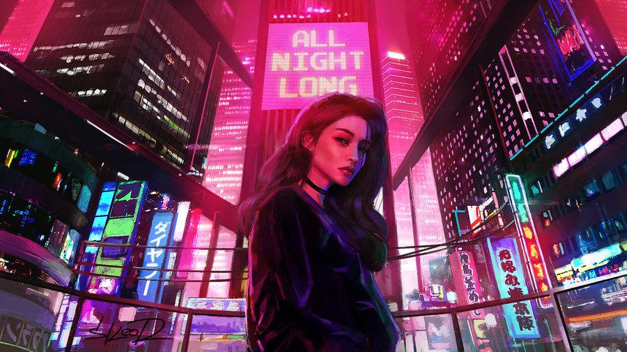 art, blur, and city lights image