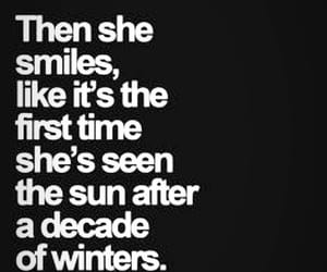 quotes, smile, and winter image