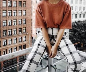 balcony, outfit, and fashion image