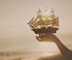 ship, photography, and boat image