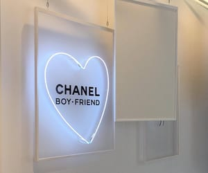 chanel, aesthetic, and neon image