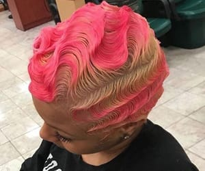 dyed, finger waves, and lit image