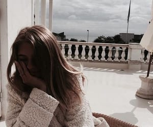 cloudy, girl, and sweater image