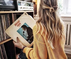 girl, hair, and music image