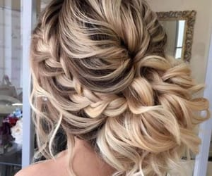 braid, cute hairstyle, and curls image