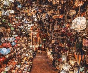 bazaar, lamp, and ıstanbul image