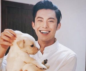 dylan wang, puppy, and meteor garden image