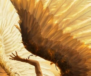 angel, wings, and fallen image