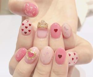 heart, nail, and pink image