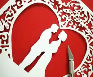card, PaperArt, and love image