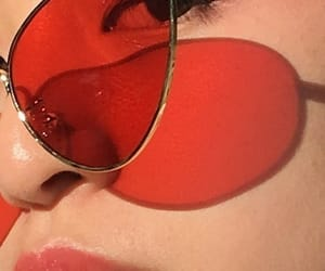 red, aesthetic, and glasses image