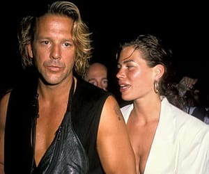 carre otis, Mickey Rourke, and carre and mickey image
