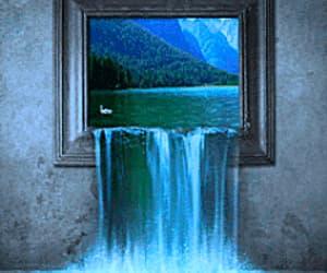 agua, gif, and cascada image