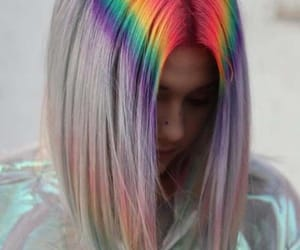 rainbow, girl, and colorful image