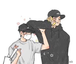 exo, fanart, and chanbaek image