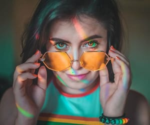 arcoiris, glasses, and orange image
