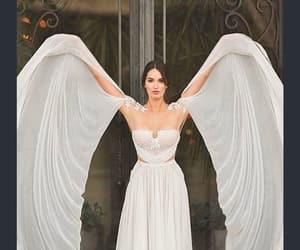 wedding dress, white, and angel image