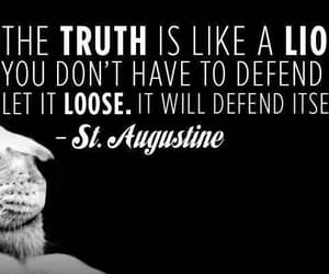 quote, truth, and lion image