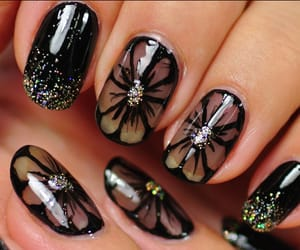 black, classy, and manicure image