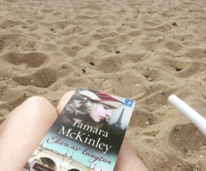 beach, book, and sweden image