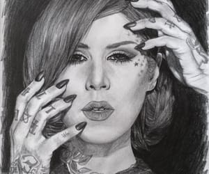 art, drawing, and kat von d image