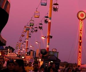amusement park, boardwalk, and usa image
