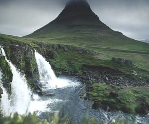 iceland, landscape, and mountains image