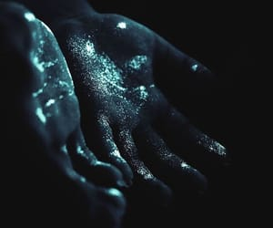 hands, blue, and dark image