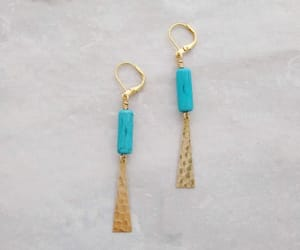 brass, earrings, and etsy image