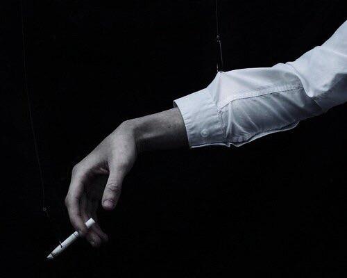 cigarette, smoke, and pale image