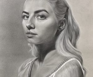 charcoal, hair, and pencil image