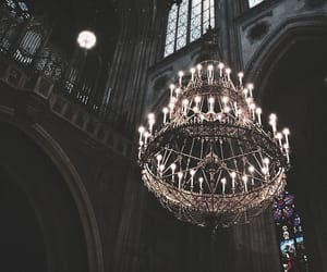 dark, chandelier, and aesthetic image