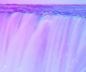 purple, waterfall, and blue image