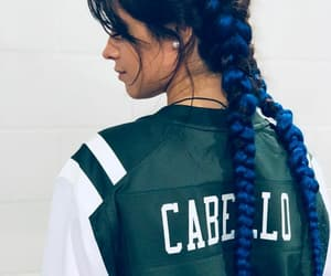 camila cabello, blue, and hair image