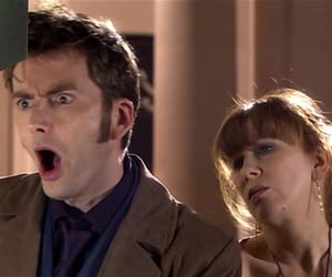 david tennant, donna noble, and tenth image
