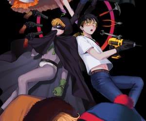 kenny, South park, and super heroes image