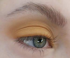 aesthetic, eye, and yellow image